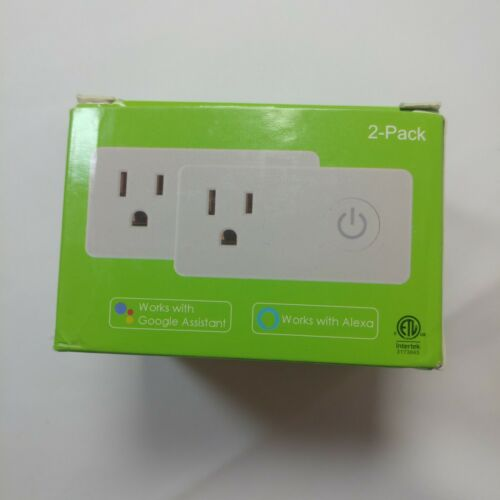 WiFi Heavy Duty Smart Plug Outlet, No Hub Required with Energy Monitoring and Ti