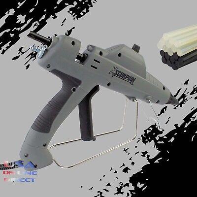 Heavy Duty Hot Melt Glue Gun 20pc Clear & Black Glue Sticks Arts Craft UL LISTED