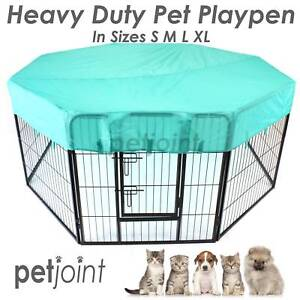 Heavy Duty Pet Dog Playpen Puppy Fence Kennel Run Enclosure Cage