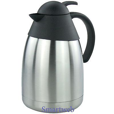 Isolierkanne 1,5 L Isolierflasche Thermoskanne Kafeekanne Teekanne Iso Edelstahl