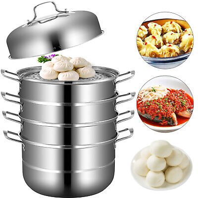 ∅28cm/11 Stainless Steel 5 Tier Steamer Cooking Food Stock