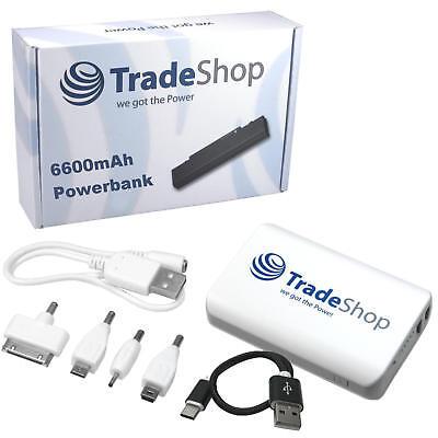 USB-Powerbank mit 6600mAh Reserveakku Akku für Handy iPhone iPad Navi 6600 Usb
