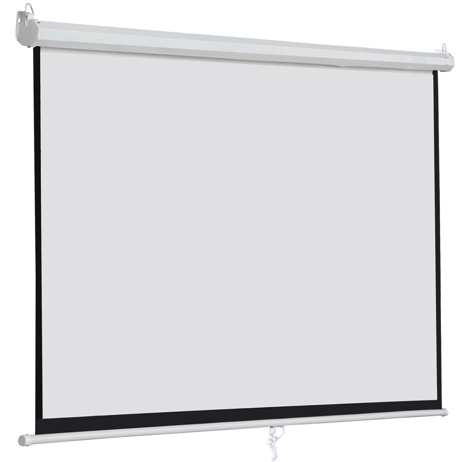 "100"" 16:9 Home Movie Manual Projection Screen Pull Down Proj"