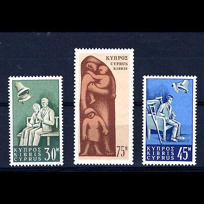 CYPRUS 1965 Social Insurance. SG 259-261. Mint Never Hinged. (AF027)