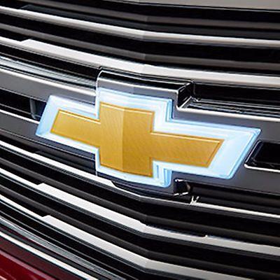 84309189 Gold Illuminated Grille Bowtie 2015-2018 Chevrolet Suburban & Tahoe GM