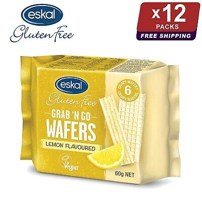 12 x Eskal Gluten Free Grab n Go Lemon Wafers 60g