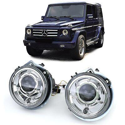 Klarglas Projektor H7 Scheinwerfer Facelift Chrom für Mercedes G Klasse W463