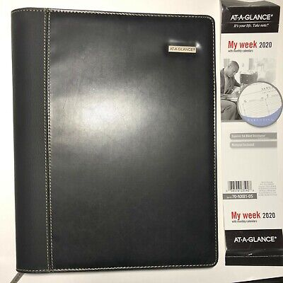 At-a-glance Zipper Padfolio Planner Executive Weeklymonthly Appointment Book