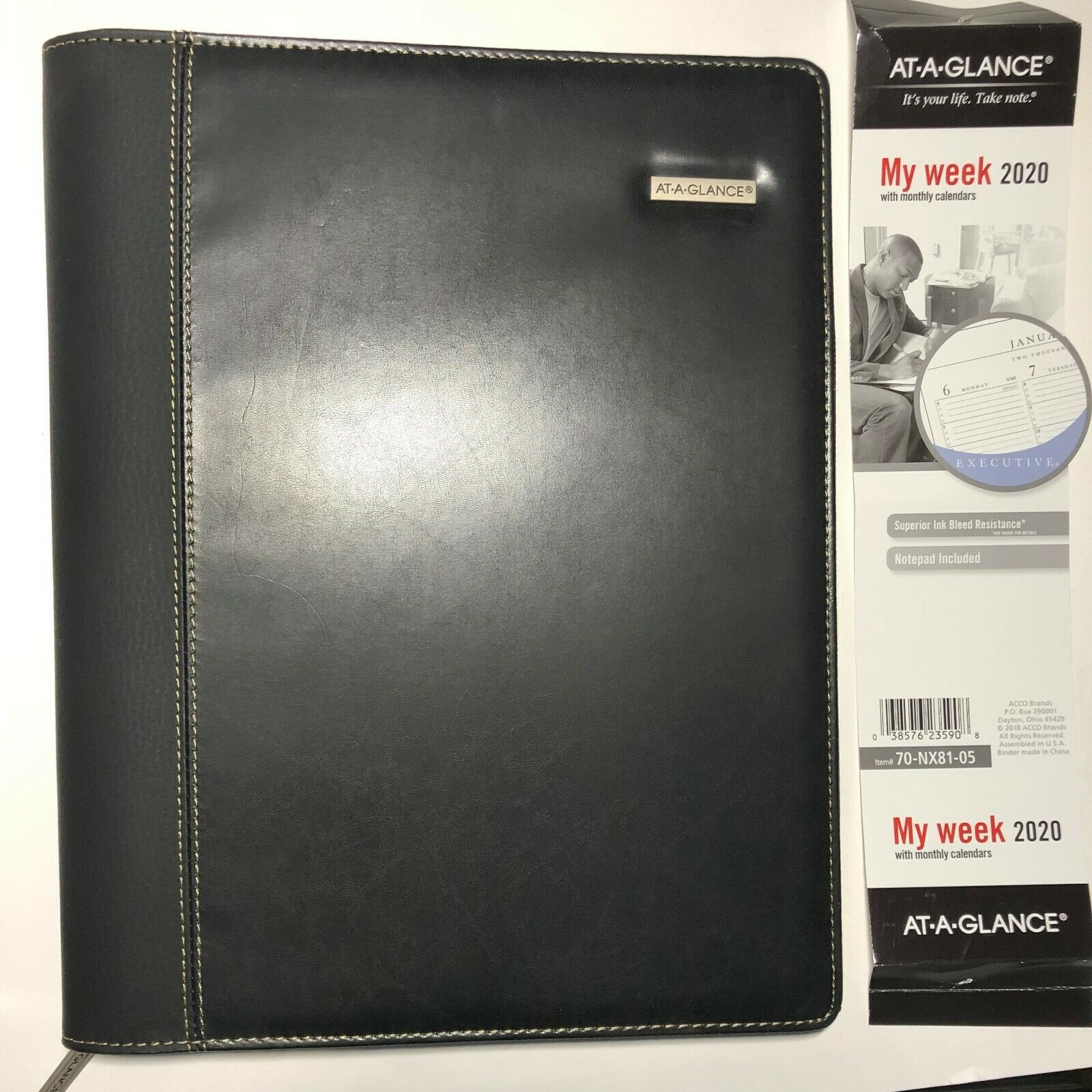 Columnar Executive Weekly/Monthly Appointment Book, Zipper,