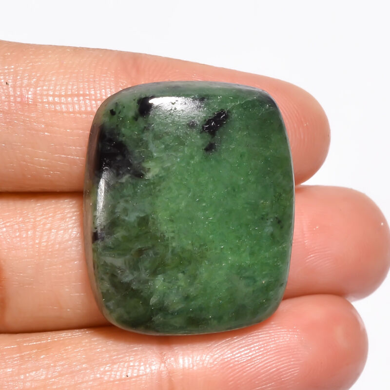 AAA+ Natural Ruby Zoisite Radiant Cabochon Gemstone 43 Ct. 27X22X7 mm EE-20322