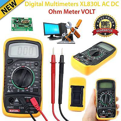 Digital Multimeter Voltmeter Ammeter AC DC OHM Current Circuit Tester Buzzer UK