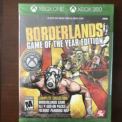 BORDERLANDS GAME OF THE YEAR EDITION XBOX ONE XBOX 360 SEALED NEW