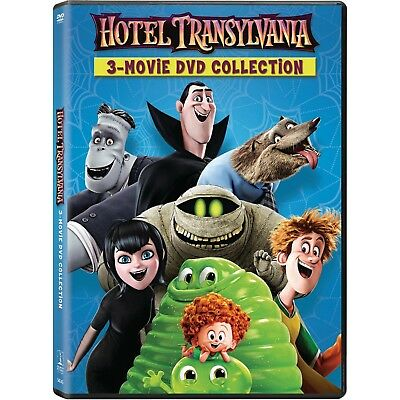 3 PG animated comedy movies: Hotel Transylvania 1 2 3 trilogy, new DVD Halloween - Animated Halloween Movies