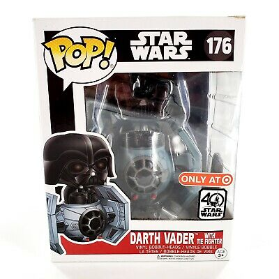 Funko Pop Star Wars Darth Vader w/ Tie Fighter 176 Target Exclusive New Has Wear
