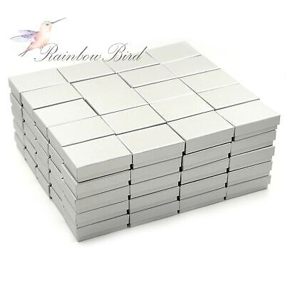Lot of 6 ~ 100 Earring Ring Necklace Cardboard Jewelry Gift Boxes 3 1/4*2 1/4*1