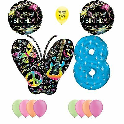 ck Light Glow Party Supplies 8th Birthday Party Balloon D... (Black Light Party Supplies)