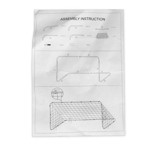 Single Football Soccer Goal Durable Lightweight Rebounder Quick Setup EZ Storage Goals & Nets