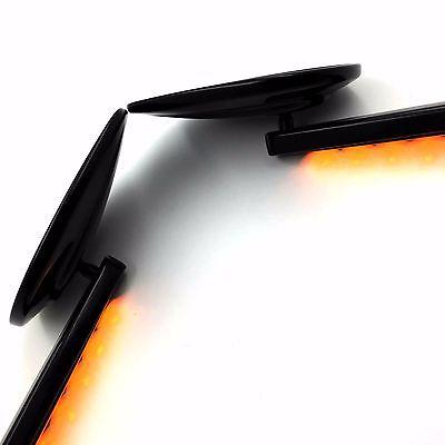 Rear View Mirrors LED Turn Signals For Harley Davidson VRSCF V-Rod