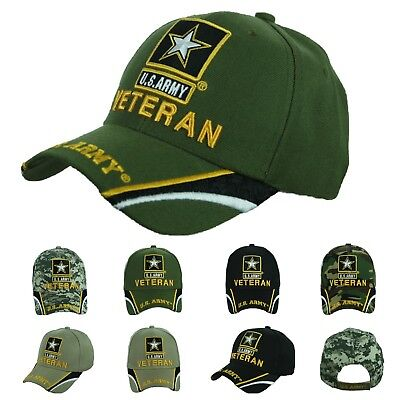 US Army Baseball Cap USA Army Veteran Hat CAMO Hats Official Licensed Caps