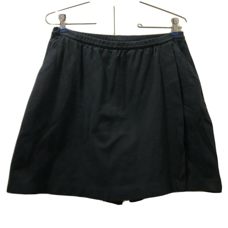 Lands End Women's S 6-8 Black Cotton Skort Shorts Skirt