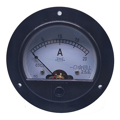 Us Stock Dc 020a Analog Amp Current Pointer Needle Panel Meter Ammeter Shunt