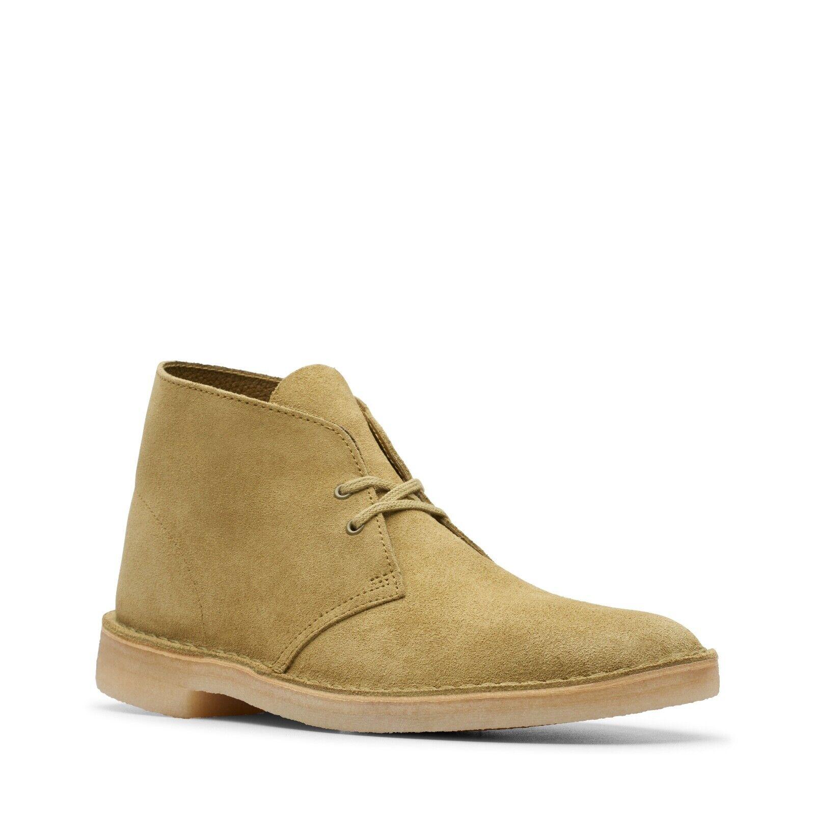 Clarks Originals Men's Desert Boots Khaki Suede 26144162