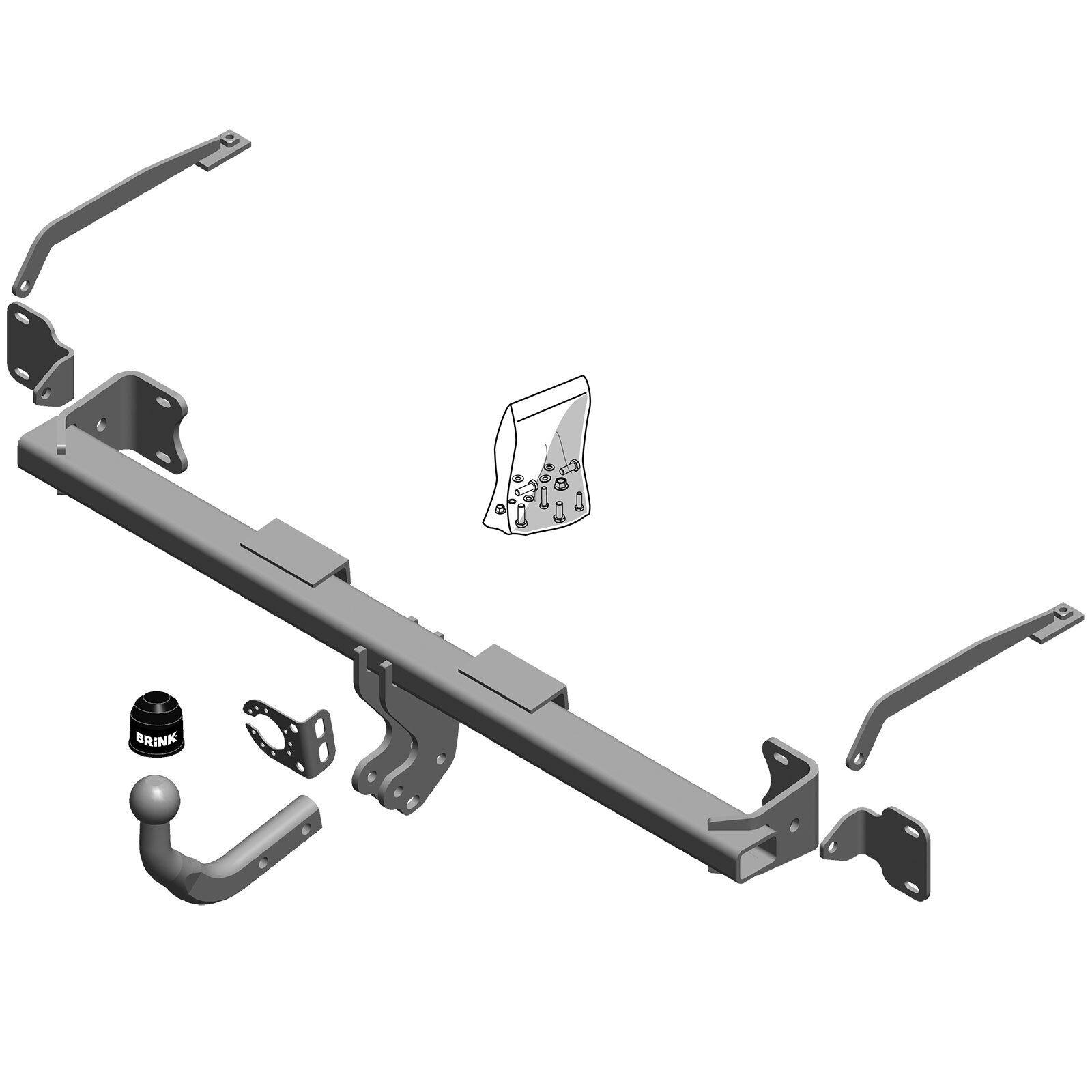 Fixed towbar swan neck Ford Kuga 2008//2013 universal 13-pin electric kit