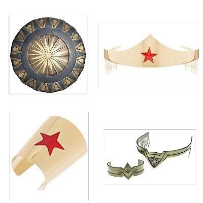 Wonder Woman Adult Tiara Movie Crown Woman Shield Bracelet Costume - Costume Tiara