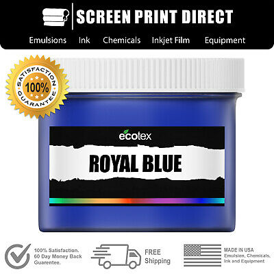 Ecotex Royal Blue - Premium Plastisol Ink For Screen Printing - Quart - 32 Oz