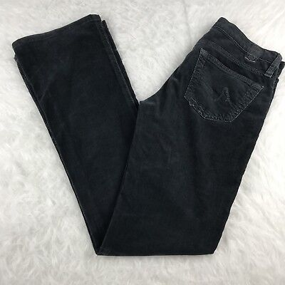 AG Adriano Goldschmied The Angel Black Boot Cut Black Corduroy Jean Sz 25R - Boot Cut Cords