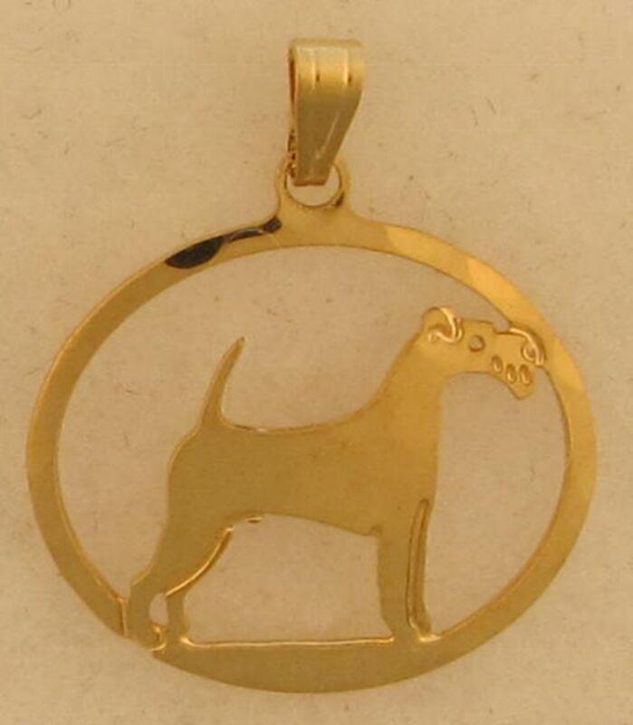 Irish Terrier Jewelry Gold Pendant by Touchstone
