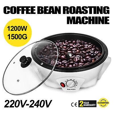 1200W Coffee Bean Roasting Machine PP Baking 1500g Coffee Roasters Kitchen