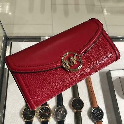 Michael Kors Women Leather Wallet Clutch Phone Case id Card Holder Purse Handbag