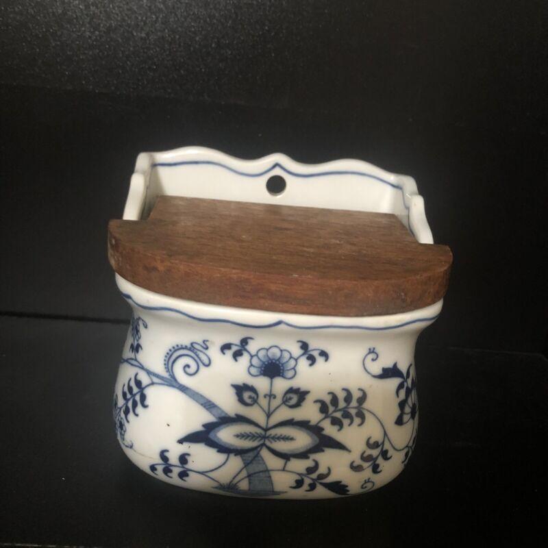 Vintage Blue Danube Onion Pattern Salt Box Japan Rectangular Mark