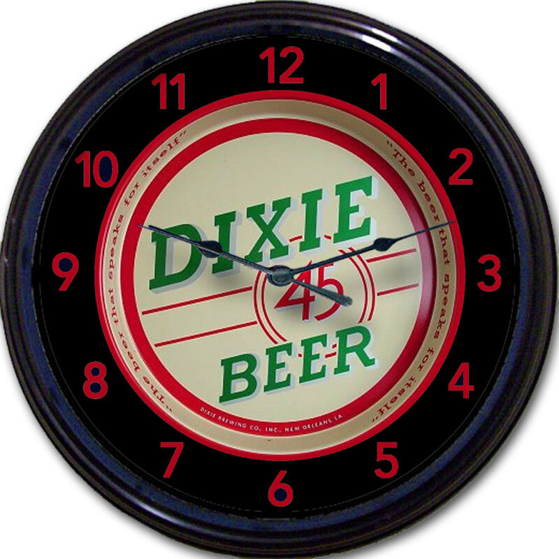 Dixie 45 Brewing Co New Orleans LA  Beer Tray Wall Clock Ale Lager Brew New 10""