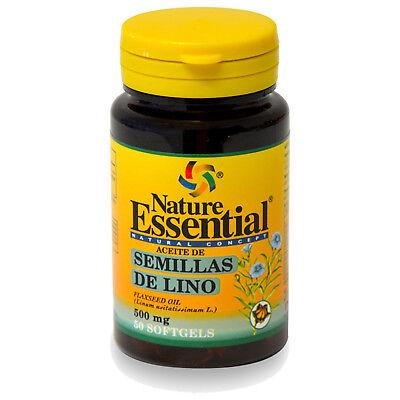 ACEITE DE SEMILLA DE LINO 500 mg. 50 Perlas - NATURE ESSENTIAL...