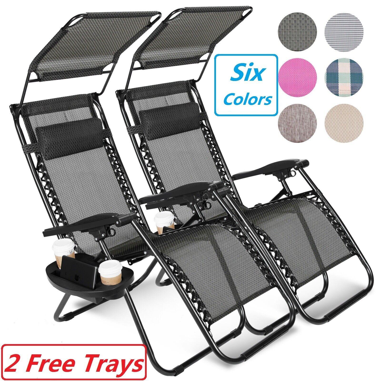set of 2 zero gravity reclining chair