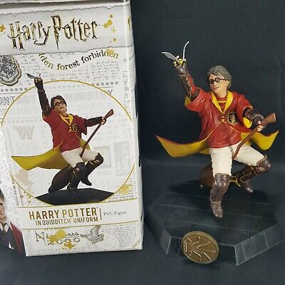 Harry Potter Quidditch Uniform Outfit PVC Figure Icon Heroes Statue Broom Flying - Harry Potter Quidditch Uniform