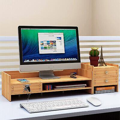 Desk Organizer Wood Office Supplie Desk Organizer Rack Computer Holder Storage