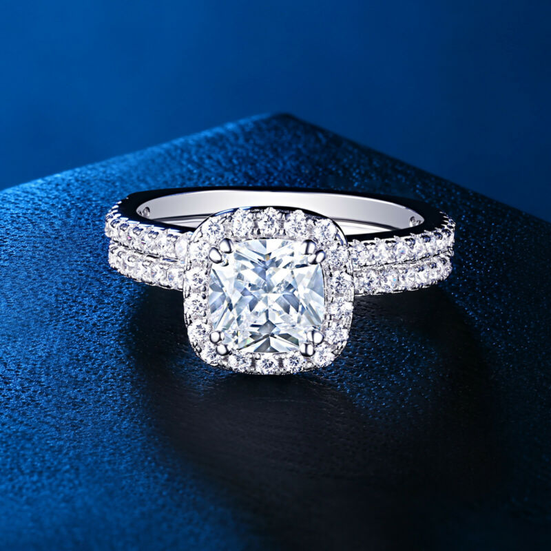 Wedding Engagement Ring Set For Women 1.9ct White Cz 925 Sterling Silver Sz 5-10