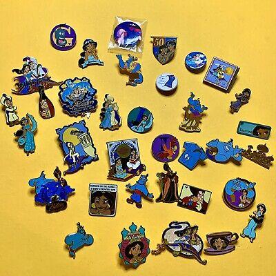 Lot Of 30 + Official Disney Aladdin Princess Jasmine Pins Rare Vintage Finds