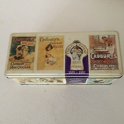 Cadbury's Chocolate Fingers Biscuits Tin Vtg Collectable Kitchenware 1980s VGC