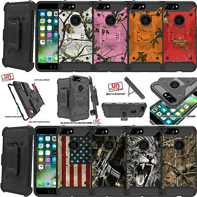 - For Apple iPhone 7 Plus (5.5) Holster Case Heavy Duty Hybrid Shell Case Camo