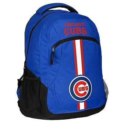 Action Bag (Chicago Cubs Backpack Action Laptop Bag MLB Baseball Licensed Product)