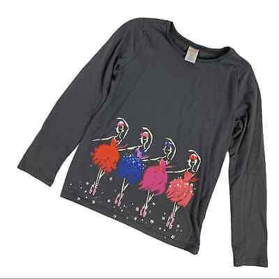Gymboree Gray Long Sleeve Ballerina Shirt M (7-8)