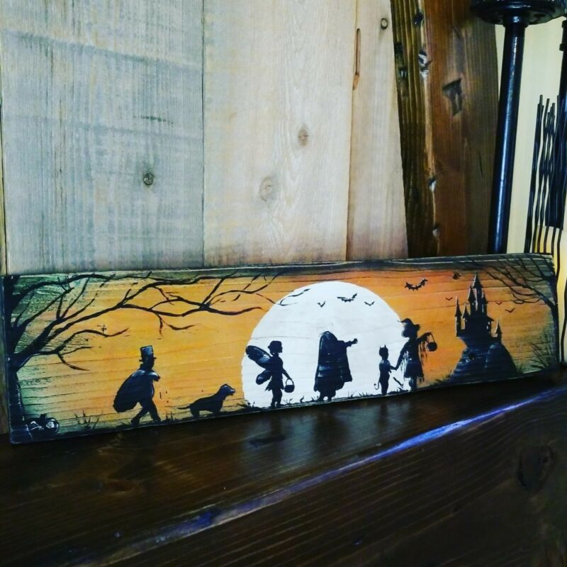 Reclaimed Wood Halloween Trick Or Treat Hocus Pocus Sign