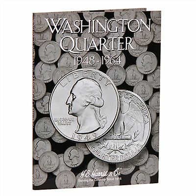 H E HARRIS #2689 Coin Folder Washington Quarter #2 Folder 1948-1964