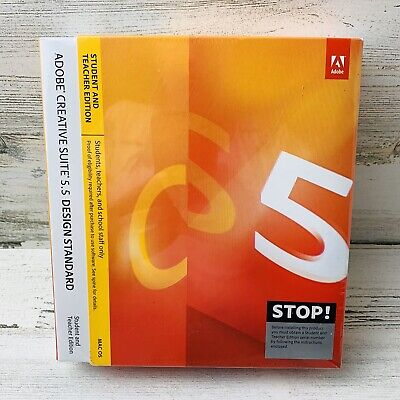 Adobe Creative Suite 5.5 Design Standard MAC OS Student & Teacher Edition New