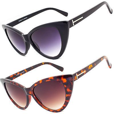 Women's Black Cat Eye Sunglasses Retro Fashion Classic Glasses Vintage Shades (Women's Black Cat Eye Sunglasses)