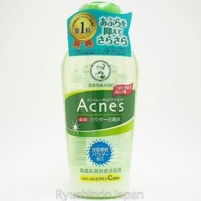 Mentholatum Acnes Medicated Powder Toner 120mL with Vitamin C,E for Acne Care